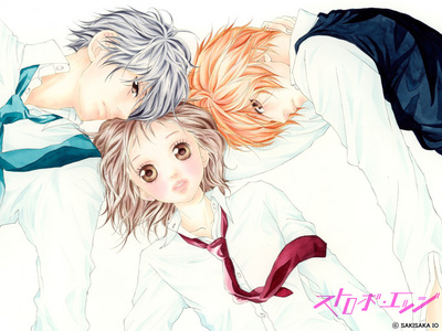 Strobe Edge- silly school girl falls in Amore with popolare guy Kamisama Kiss- girl goes to a shrine becomes a god and falls in Amore with a spirit Fruits Basket- Tohru Honda, finds herself in a tough spot but the sohmas who have a horrible family curse help her out (HIGHLY RECOMMENDED) cucina Princess- girl goes to a school far away from her home to find her true Amore <3 Tail of the Moon- modern time Giappone there's this girl falls in Amore with the guy who she fast to marry, but he doesn't like her I'm not really good at Describeing ._. But i own all of these so they are really good :D PICTURE-------Left to Right: Ren, Ninako, and Andou <3-----Strobe Edge