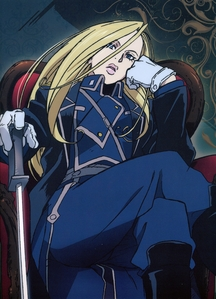 for me it's Olivier Armstrong from FMA, she's hot, powerful and strong minded, love it :)