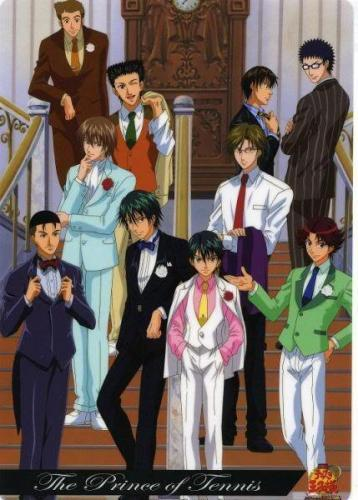 The Seigaku quần vợt Regulars from Prince of Tennis...