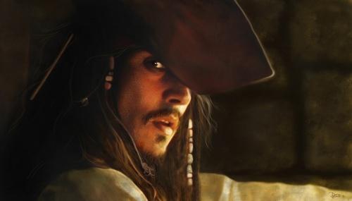 Johnny Depp/Captain Jack Sparrow Some amazing प्रशंसक art form DeviantArt.com