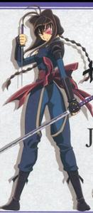 Jiyu Nanohana from Jubei-chan: The Ninja Girl when donning the eyepatch.