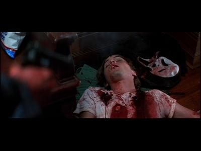 Skeet Ulrich as Billy Loomis in Scream, shot in the head.