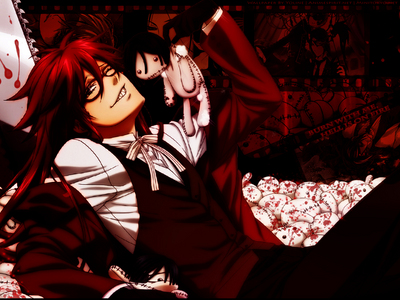 I would get killed door Grell <3 I wouldn't mind dyeing in his Hands.......more like Chainsaw <333333