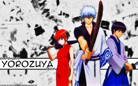 Yorozuya trio from Gintama! ~Gintoki(leader), Kagura(captain), Shinpachi(support) X3