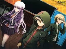 the detective trio Makoto Neagi Kyoko Kirigiri Byauka Togami