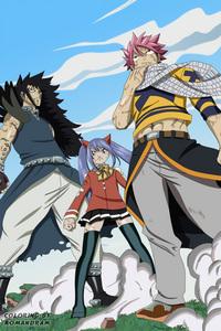 Natsu, Gajeel and Wendy