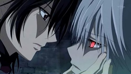 Kaname and Zero, they're only tolerant of each other for Yuuki's sake