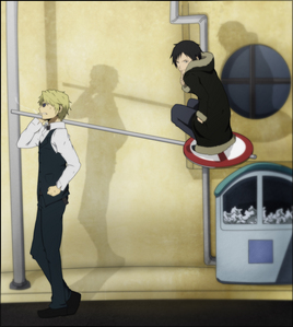 I thought these two would be the first ones posted. Shizuo and Izaya. :)