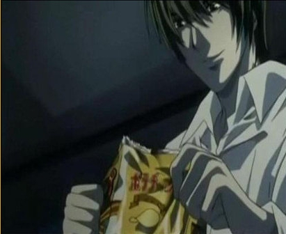 Here's a funny..guess it's kind of creepy in way Death Note screencap! hope you like it!
