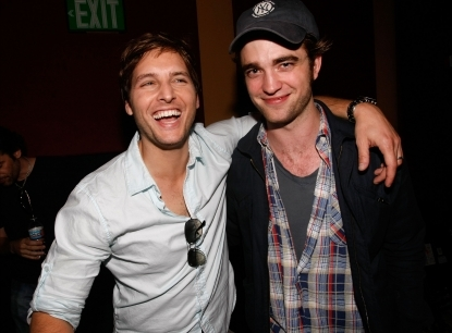 my beautiful baby with his co-star Peter Facinelli<3