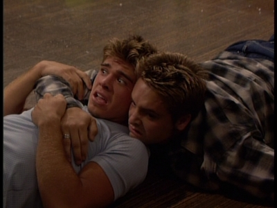 Matthew and Will Friedle on the floor <333
