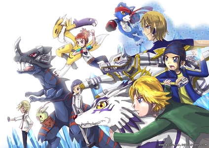 Most of the main protagonists opposites/rivals are lone wolves in the Digimon Franchise . From Right to Left : Matt * Digimon Adventure 1 * Koji * Digimon Frontier * Thomas * Digimon Data Squad * Rika * Digimon Tamers * Ken * Digimon Adventure 2 * Kiriha * Digimon Xros Wars *
