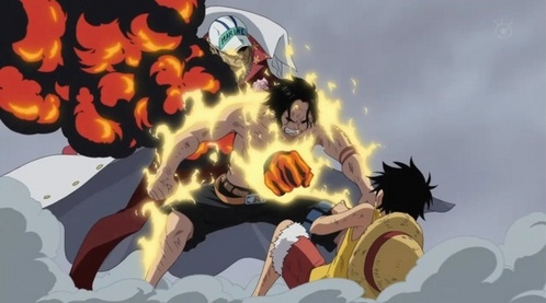 Luffy despises Akainu with all of his being. VVVVVV for this reason