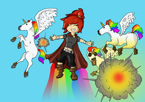 I WILL HAVE THE POWERS OF MAGIC RAINBOWS AND 独角兽 AND THOSE COLORFUL STARRY THINGS FROM SUPER MARIO GALAXY!