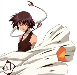 Soi Fon (Bleach) She is the leader of the stealth force.......... she is deadly, lethal, and dangerous as well as even brutal and violent female characters than others in the whole soul society......a true violent assasin ..he he eh eh