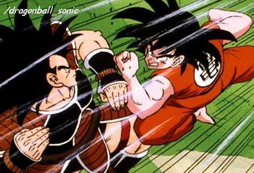 Goku & Raditz......(Dragonball Z) brothers who killed each other...........heh eh ehe e goku & raditz...good & evil.........who would say that they were brothers...........he he he ehhe
