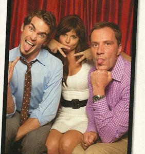 Matt, Tiffani and Tim acting a tiny bit silly (for TV Guide) XD