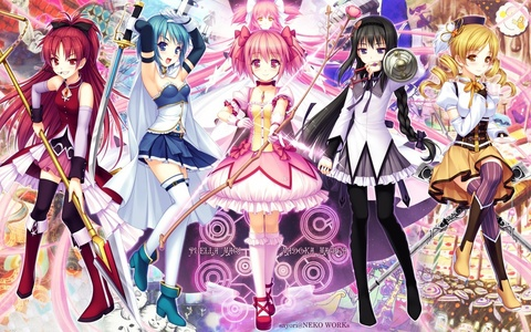 Two that I can think of are: Mahou Shoujo Madoka Magica ~ Picture ~ I'm not fond of magical girl anime but this one is one big exception. The story was deep, the characters were relatable, and the series was just ujumla, jumla beautiful. Need I mention that it is a deconstruction that mixed in psychological horror elements which I am quite fond of. Shingeki No Kyojin Blame the popularity on this one. I thought it was going to be another SAO but I adore this anime. The characters are all interesting, the dystopian plot was compelling and the uhuishaji is just gorgeous.