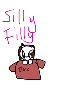 Name ; silly filly Gender: 🚺 Likes: art,love,and hope Pff : a অশ্বশাবক named Cody A Dislikes:cleaning and slavery Design:white কোট brown main হৃদয় cutie mark and a princess Type:alicorn Backstory:She was a alicorn when she was young she was found in a box .she lives with cadence sparkle she try's to fit in and has two sisters who live somewhere else