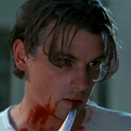 Skeet Ulrich with red blood on him :)