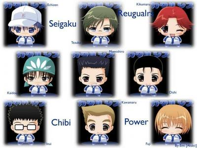 The Seigaku Regulars from Prince of Tennis...