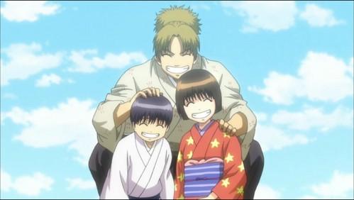 Shinpachi, Otae and Hajime from Gintama X3