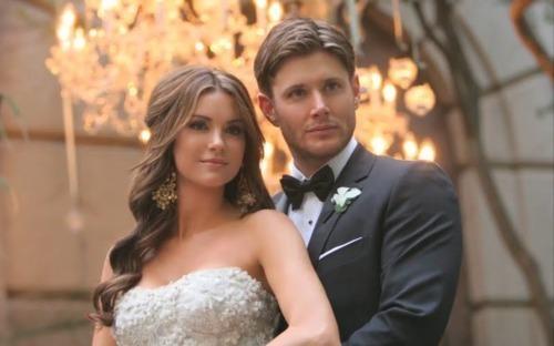 Jensen married his co-star Danneel Harris they were in ten inch hero together :)