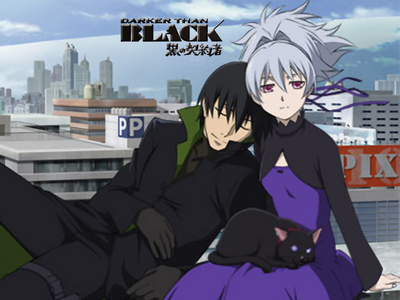 Hei and Yin - Darker than Black. At least originally the Contractors and Dolls were known for having no emotions. It changes as the series progresses and the characters evolve.