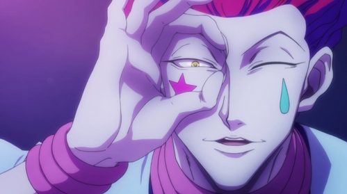 Hisoka <333 (from Hunter x Hunter since I noticed someone posted the guy from Yami No Matsuei with like the same name)