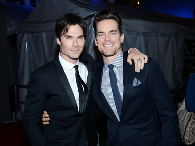 Matt with Ian Somerhalder backstage at the 2013 People's Choice Awards <3333