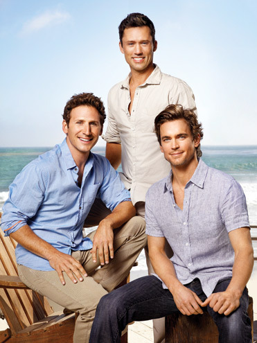"Matt with Mark Feuerstein (""Royal Pains"") and Jeffrey Donovan (""Burn Notice"") in a TV Guide photoshoot on Malibu 海滩 <3333"