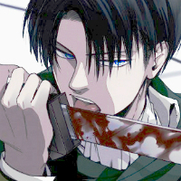 Levi from Attack on Titan. Though his irises are [i]very[/i] small, so his eyes look black in the anime. If Levi doesn't count because you can't tell his eye color, then I would say Alois Trancy! :3