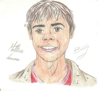 My cartoon drawing of Matthew from The Hot Chick :)