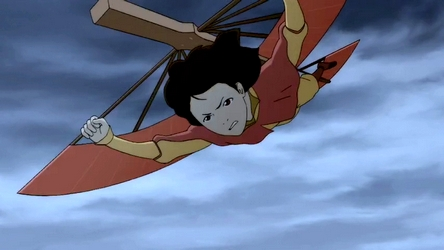 Here is Jinora on a glider from LOK 1.10: Turning the Tides. As to why Tenzin and the other kids don't use them I suppose it's a personal preference thing.