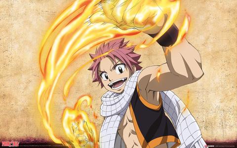Natsu Dragneel (Fairy Tail) natsu's scarf is soo precious to him.bcz it was dado to him por his step father the mighty IGNEEL......he heh eheh