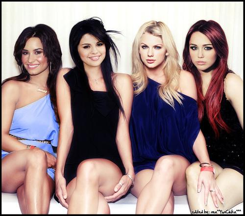 here's mine with Demi Lovato, Selena Gomez and Taylor Swift!!!! <333 hope u like it!!!