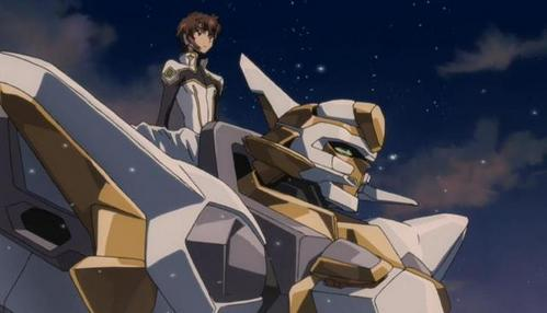 Suzaku Kururugi with the Lancelot=)) (from Code Geass)