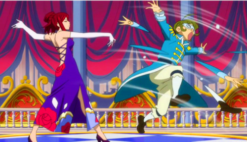 Erza Scarlet dancing......(Fairy Tail) i dont wanna be her dance partner...never in my lifetime...........bcz i wanna live.......he eh ehe he he