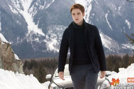my Rob-erful Angel walking in the snow<3