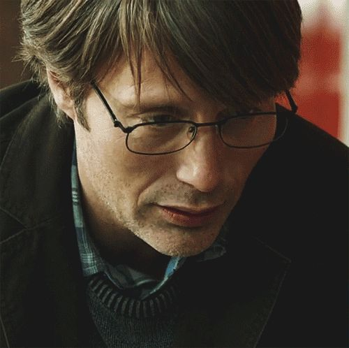 Mads Mikkelsen <3 So cute with the glasses :-D
