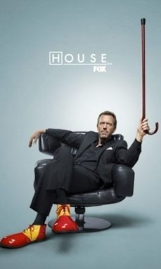 Hugh Laurie as House with clown shoes :D