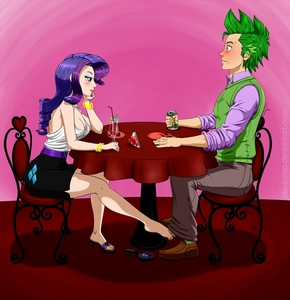 I'm usually not the fan of humanized ponies, but I find this pic rather amusing. :)