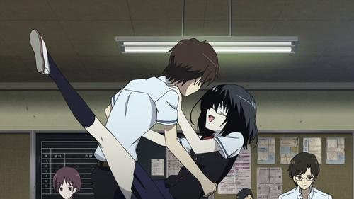Kouichi Sakakibara and Mei Misaki in Another.