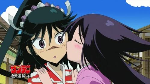 Here's one of my faves JinbeiXOharu from Mushibugyo