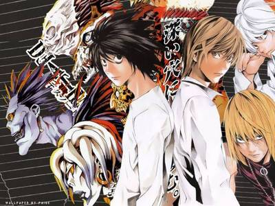 -Death Note [Picture] includes moral, intellectual, and psychological tests, mystery, excitement, humor, wonderful music, and very interesting and well-written characters, and a great story. -Another includes horror, gore, mystery, excitement, friendship, and thrills. -Black Cat includes humor, enjoyment, battles, entertaining characters, friendship, and all of the best things about Shonen. Also, I would recommend Code Geass and Bleach as possibilities.