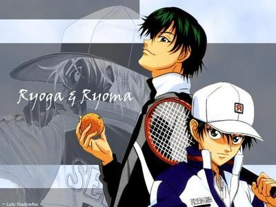 Ryoga Echizen and Ryoma Echizen from Prince of Tennis...Even though Ryoga is Ryoma's adopted older brother,they're look alike,aren't they?