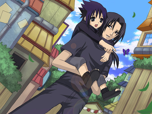Itachi and Sasuke Uchiha - naruto