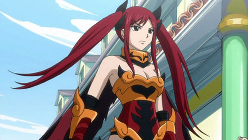 Erza Scarlet (Fairy Tail) have long hair.