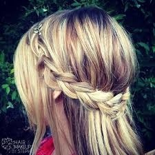 o like a braid that wraps around your hair but like have the rest out
