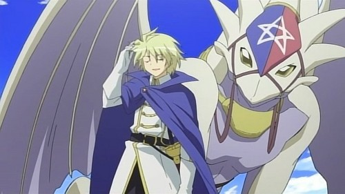 Julio Chesaré from Zero no Tsukaima and his dragon